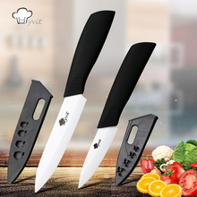 "Myvit brand Kitchen Knives 3"" and 5"" 2pcs Ceramic Knife White Blade Fruit Paring Knives Cooking Tools Beauty Gift(China)"