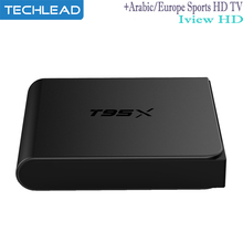 T95x Greek IPTV box Android with iview hd Arabic Europe sports channel Italia Albania m3u code Turkish USA DE English 4k TV Box