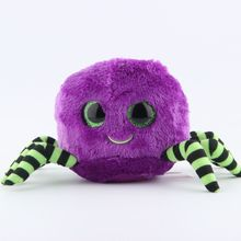 Ty Beanie Boos Original Big Eyes Plush Toy Kawaii Doll Child Birthday Purple Spider Stuffed Animals Baby 15cm  Toys