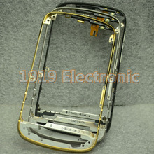 Genuine Mid Middle Metal Front Bezel Frame Housing With Power Volume Flex For BB BlackBerry Q10+Tools+Tracking