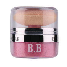 2016 New Women Girls 3D Pure Mineral Face Cheek Soft Natural Blush Blusher Powder Cosmetic With Sponge Hot Selling