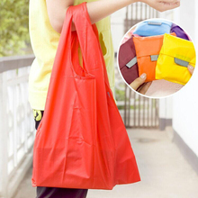 Polyester Reusable Eco Storage Bag Creative Portable Supermarket Shopping Bag Foldable Home Sorting Bag Tote Pouch 40*31 CM