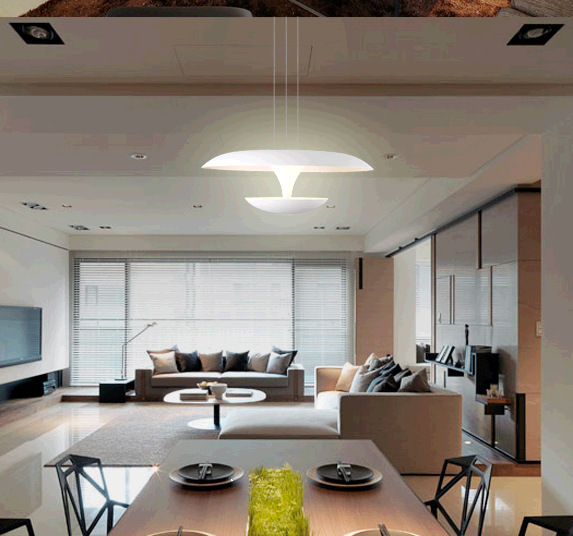 Fishing Line LED chandelier restaurant creative minimalist bedroom living room lights aisle Acrylic<br><br>Aliexpress