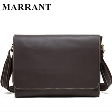 MARRANT Crazy Horse Genuine Leather Men Bag Men's Leather Bag Men Messenger Bags Shoulder Crossbody Bags Man Handbag Briefcase