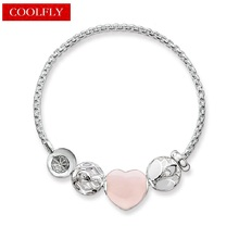 Pink Heart Lotus Flower Infinity Beads Bracelets Thomas Style Glam Fashion Karma Jewelry For Women Ts Christmas Gift Bijoux