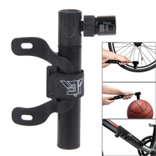 Mini Air Pump Portable Aluminum Alloy Mini Bicycle Hand Pump Ultra-Light Tyre Tire Ball Pump with Ball Needle Mounting Bracket