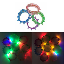 Costume Leds Led Wedding Dress 60pcs Colorful Changing Led Bracelet Light Flashing Acrylic Glowing Toys Party Accessories Glow