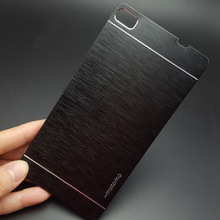 Luxury Motomo Hybrid Metal Plate + PC Hard Case For Huawei P8/P8 lite/P8Lite Capa Aluminum Back Cover Cell Phone Cases 8color(China)
