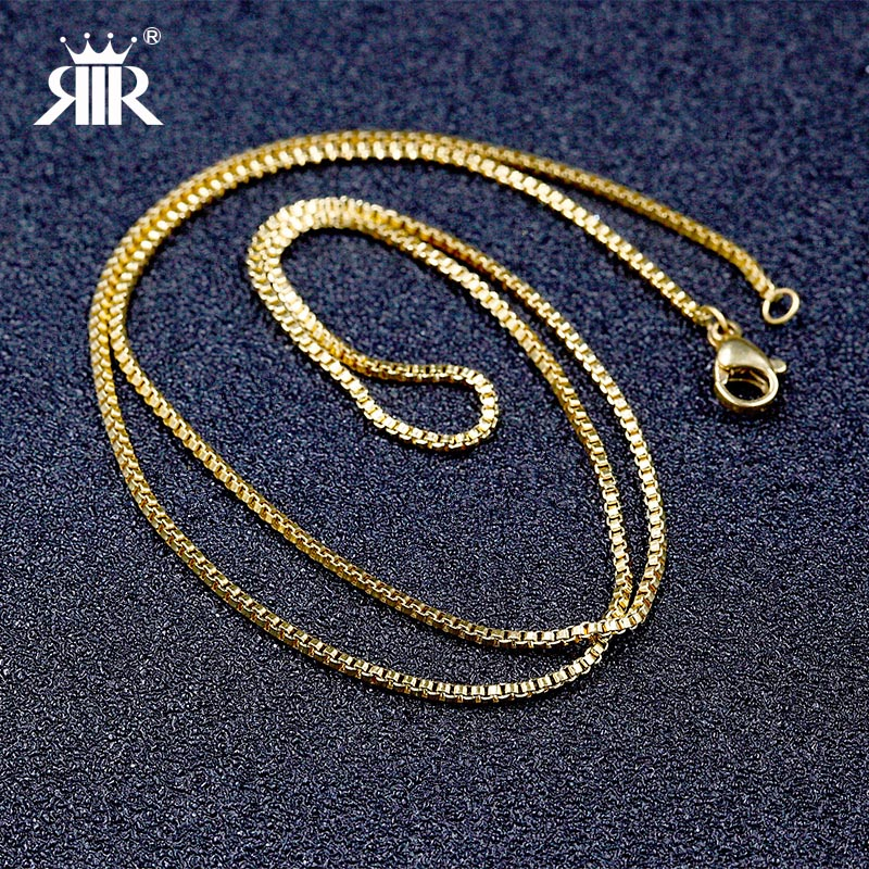 Hot Trendy wholesale Collare Link chain silver/gold/rose gold stainless steel box chain Women Men Kids Girls necklace Jewelry(China (Mainland))