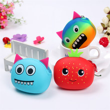 Storage Box Mini Cartoon Silicone Earphone SD Card Bag Storage Box Bin Case Carrying Pouch Container Organizer