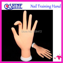New Professional Nail Trainer Practice Hand Super Flexible Fingers Personal & Salon Adjustable Practice Hand(China)