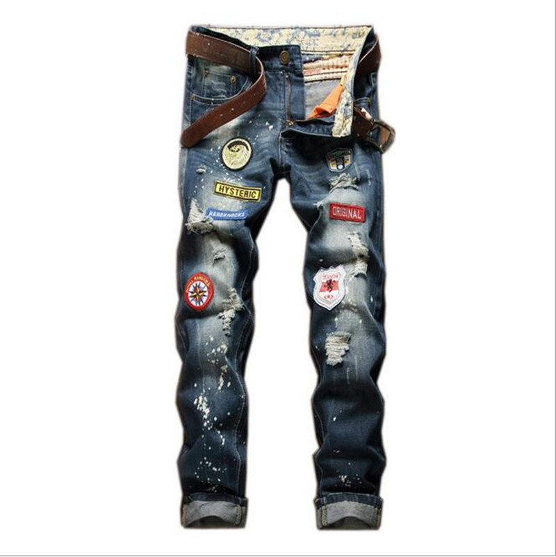 28-38 2017 fashion men high-quality high-grade leisure slim fit jeans/Male superior quality hole in casual jeans/Casual pantsОдежда и ак�е��уары<br><br><br>Aliexpress
