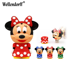 Cute Stereoscopic Version Minnie Silicone usb flash drive 64GB 32GB 16GB 8GB 4GB pen drive USB2.0 u disk memory disk(China)
