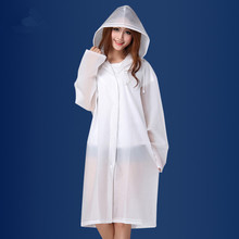 Adults EVA Environment Transparent Raincoat With Hood For Man woman rain coat Outdoor Rainwear Waterproof Poncho YY308-1
