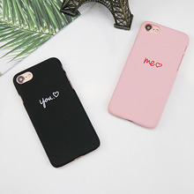 Ultra Slim Pink Candy Color Cases for iPhone X 8 7 6 6s Plus Case Luxury Brand Hard Plastic Love Heart Back Protection PC Cover(China)