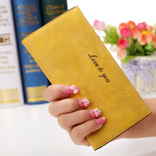 Manufacturers Wholesale 2016 Hot Sale Women Wallet Long Elegant Korean Version Original Retro Matte Leather Wallet Grace Purse