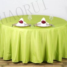 10pcs Customize Table Polyester Cotton Fabric 108''Round Sage Green Luxury Dining Tablecloth Wedding Party Banqut FREE SHIPPING