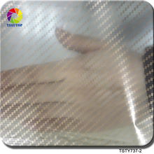 Free shipping TSAUTOP Size 0.5m x 2m gold transparent carbon fiber water transfer hydrographic film transfer TS737-2
