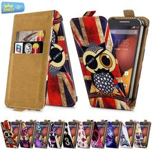For Motorola Razr I Razr M Universal High Quality Printed Flip PU Leather Cell Phones Case Cover Small Size(China)