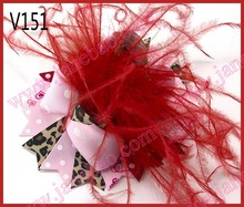 free shipping 2017newest 30pcs Valentine's day hair bows-B Girl boutique bows Valentine hair clips heart ribbon hair clippie