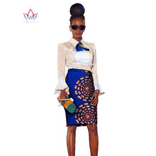 2018 african dress Plus Size 2 Pieces African Print Dashiki Shirt Skirt Set  Bazin Rche Femme Africa Clothing 5xl natural WY1182 c9035bb2f936