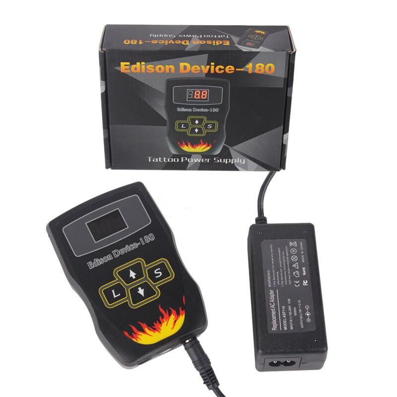 Professional Tattoo Power Supply Hurricane ED180 Powe Supply Digital Dual LCD Display Tattoo Power Supply Machines Free Shipping<br>