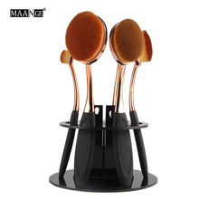 MAANGE New Arrival Top Quality 6 Hole Oval Makeup Brush Holder Drying Showing Rack Organizer Cosmetic Shelf Brush Holder Tool