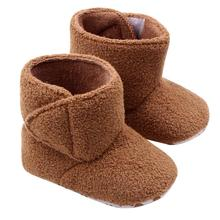 2015 New Fashion Super Warm Winter Baby Ankle Snow Boots Infant Shoes Orange Khaki Antiskid Keep Warm Baby Shoes First Walkers