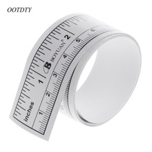 OOTDTY 90cm Self Adhesive Metric Measure Tape Vinyl Ruler For Sewing Machine Sticker