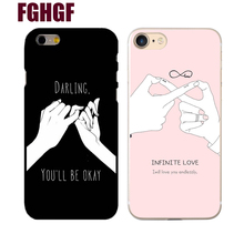 Buy Fashion Funny Letter Case iphone 7 Case iphone7 7 PLus 8 8p 6 6S Back Cover Cute Cartoon Smile Couples Phone Hard Cases for $1.31 in AliExpress store