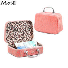 Gift 2017 Korean Portable Cosmetic Bag Vanity Case Pouch Stone Grain Daily Necessities Storage Organizer Wash Girl Makeup Case(China)