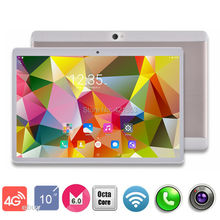 2017 New 10 inch 4G LTE Tablets Octa Core Android 6.0 RAM 4GB ROM 64GB Dual SIM Cards 1280*800 IPS HD 10.1 inch Tablet PCs+Gifs