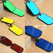 1Pc Summer Style Fantastic 2 Dog Tags Chain Particular Army Tactical Style Black Men Pendant Necklace Cool Gift