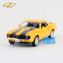 Brand New 1/36 Scale Diecast Car Model Toys Vintage Chevrolet Camaro SS (1969) Metal Pull Back Car Toy For Children Gift