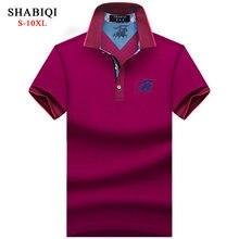 f2c8ecd90a Nuevo 2018 hombres Polo SHABIQI marca ropa hombre moda Polo camisa hombres  Casual solapa Polo camisas 5XL 6XL 7XL 8XL 9XL 10XL