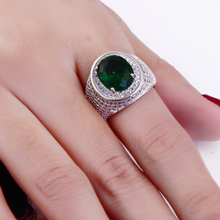 New oval cut big crystal stones cz ring Green and Champagne color White color Trendy Ring For party Jewelry