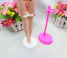 2pcs/lot Holder For Barbie Doll Display Holder Dress Form Clothes Stand For Monster High Outfit Dolls Accessories