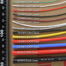 26AWG Flexible Silicone Wire Cable Soft High Temperature Tinned copper UL VW-1(China)