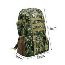 50L Multifunction Outdoor Backpack Mountaineering Hiking Camping Bag Tactical Travel Rucksack  7Colors Sport Bag high quality
