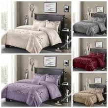 Luxury Lace Bedding Sets 8 Size Single Double Queen King Duvet Cover Set White/Grey/Red/Purple Comforter Cover Without Bed Sheet(China)