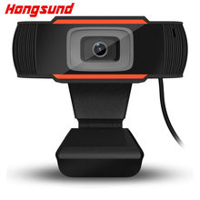 Hongsund High Quality USB Webcams Black PC Web Cam Camera for Computer Laptop Desktop Tv Webcam Without Driver HS--A7(China)