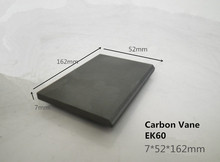 7*52*162mm graphite vane   for dry running rotating compressors   /Graphite Sheet for Air Pump