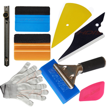 EHDIS Vinyl Squeegee Car Wrapped Application Tools BlueMax Rubber Gloves Vinyl Squeegee Kit Car Wrapping Tools Set AT020(China)