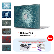 Bullet Holes Crack Pattern Laptop Case For Apple Mac Pro 15 Air 11 Air 13 Cover Macbook Pro 13 15 Inch Retina A1502 Computer Bag