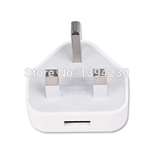 200pcs White Full 5V 1A UK Plug Wall Charger AC Adapter High Quality 1000MA USB Travel Adapter for iPhone 4 5 5s 6 6s 7 7plus(China)