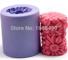 Flower soap mould handmade decorating tools pillar silicone candle mold