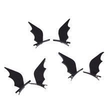 JETTING 1 Pair Mini Bat Wings Hairpins Hair Clips Barrette Halloween Party Headwear Women Girls Novelty Horror Hair Accessories(China)