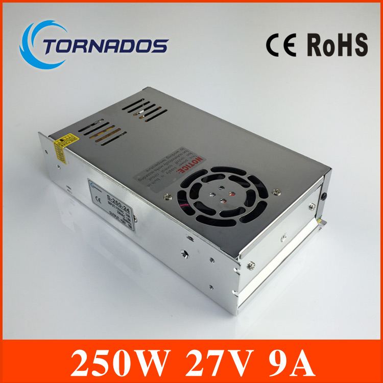 240W 27V 9A  Switch Power Supply DC power S-250-27 CNC Router Single Output Foaming Mill Cut Laser Engraver Plasma<br>
