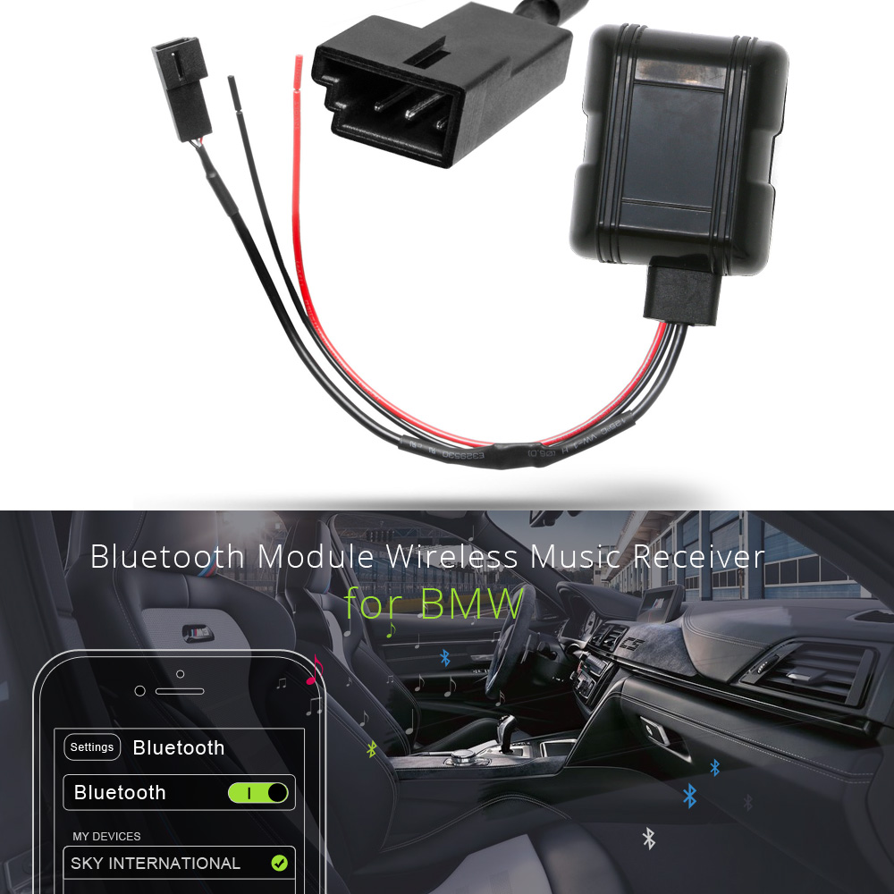 Atocoto Car Bluetooth Module Aux In Adapter 3 Pin Cable For Bmw Bm54 2002 E39 Wiring Valb003f C