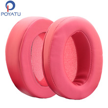 POYATU Replacement Leather Headphones Earpads Ear Pads Ear Cushions For Sennheiser HD650 HD600 Durable Soft Sponge Earpads Pair(China)